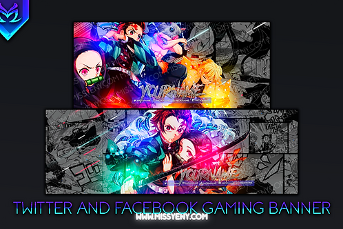 DEMON SLAYER | BANNER PACK FACEBOOK GAMING AND TWITTER