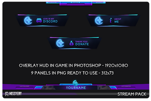 Stream Pack | Panels and Overlay in Game Mercy Star Overwatch