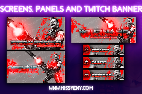 FUSE MAYHEM APEX LEGENDS |  2 SCREENS, PANELS AND TWITCH BANNER