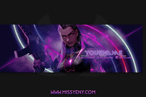BANNER PACK TWITCH TWITTER | REYNA VALORANT