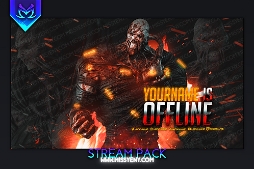 NEMESIS RESIDENT EVIL DEAD BY DAYLIGHT | TWITCH BANNER AND OFFLINE SCREEN