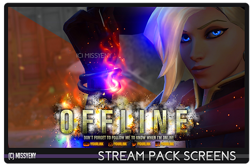 Stream Pack | Witch Mercy Overwatch V2.0 | Screens