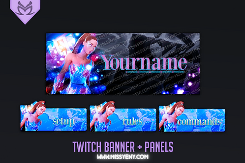 ARIANA GRANDE FORTNITE   TWICH BANNER AND PANELS