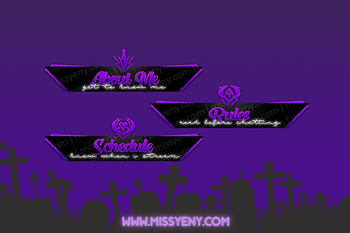 Twitch Panels | KDA logos League of Legends