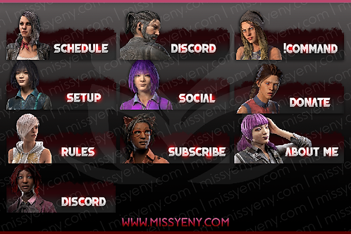 TWITCH PANELS | DEAD BY DAYLIGHT