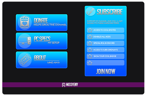 Twitch Mixer Panels | Aesthetic Blue
