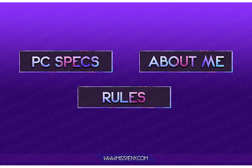 TWITCH PANELS | GALAXY STYLE