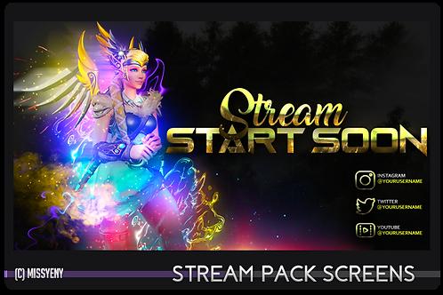 Stream Pack | MERCY VALKYRIE OVERWATCH - Screens