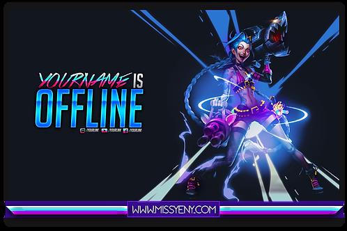 JINX - Stream Pack - OFFLINE Screen and Banners | League of Legends