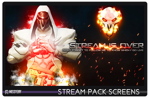 Stream Pack | Overwatch Reaper - Screens