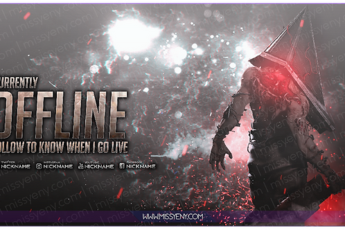 STREAM PACK | PYRAMID HEAD SILENT HILL | OFFLINE SCREEN AND PANELS