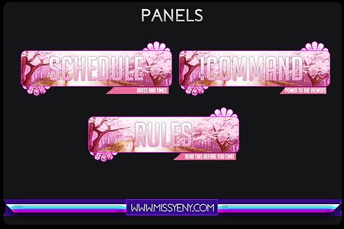 Twitch Panels | Pink Petals