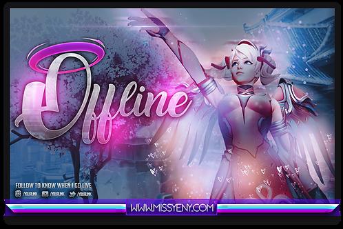 Offline Screen Stream | Mercy Pink Pastel Overwatch