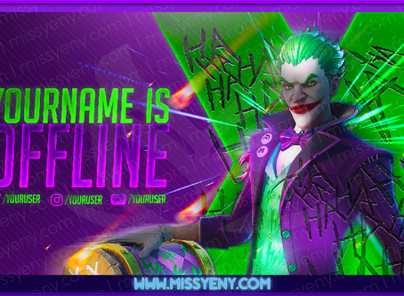 2 VERSIONS OFFLINE SCREEN + PANELS | JOKER FORTNITE