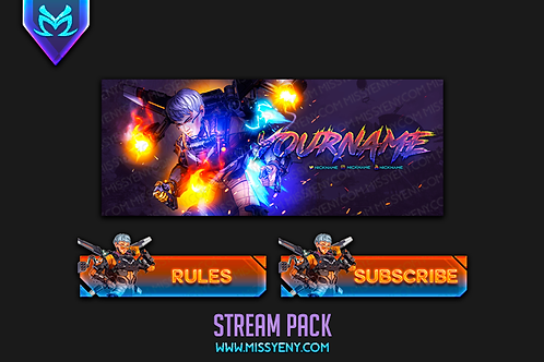 APEX LEGENGS VALKYRIE | TWITCH BANNER, PANELS AND OFFLINE SCREEN
