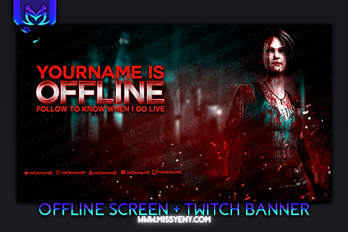 JILL RESIDENT EVIL DEAD BY DAYLIGHT | TWITCH BANNER AND OFFLINE SCREEN