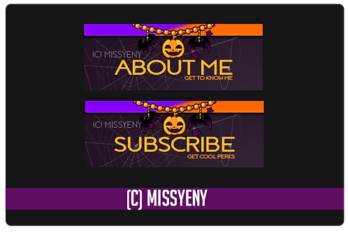 TWITCH PANELS PNG & PSD FORMAT | HALLOWEEN PANELS V1.0