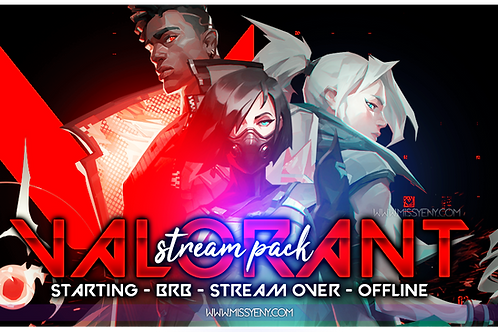 VALORANT - Stream Pack | Stream Starting, BRB, Stream Over and Offline Screen