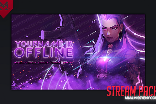 REYNA VALORANT STREAM PACK | 4 BANNERS TWITCH PANELS OFFLINE SCREEN