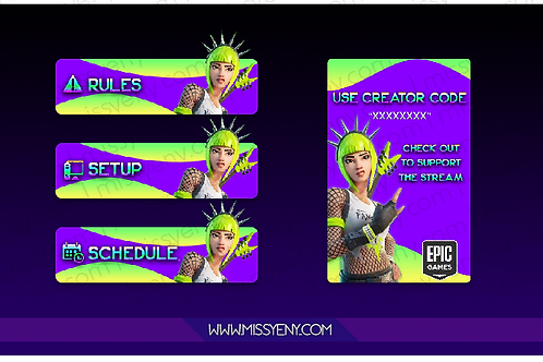 PANELS | FORTNITE POWER CHORD GREEN NEON