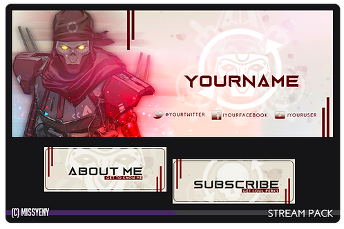 STREAM PACK | REVENANT APEX LEGENDS | PANELS AND TWITCH BANNER