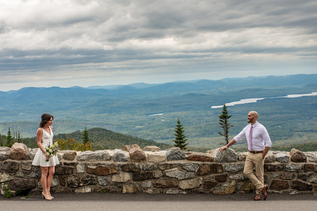Whiteface Mountain Elopement Wedding ..j