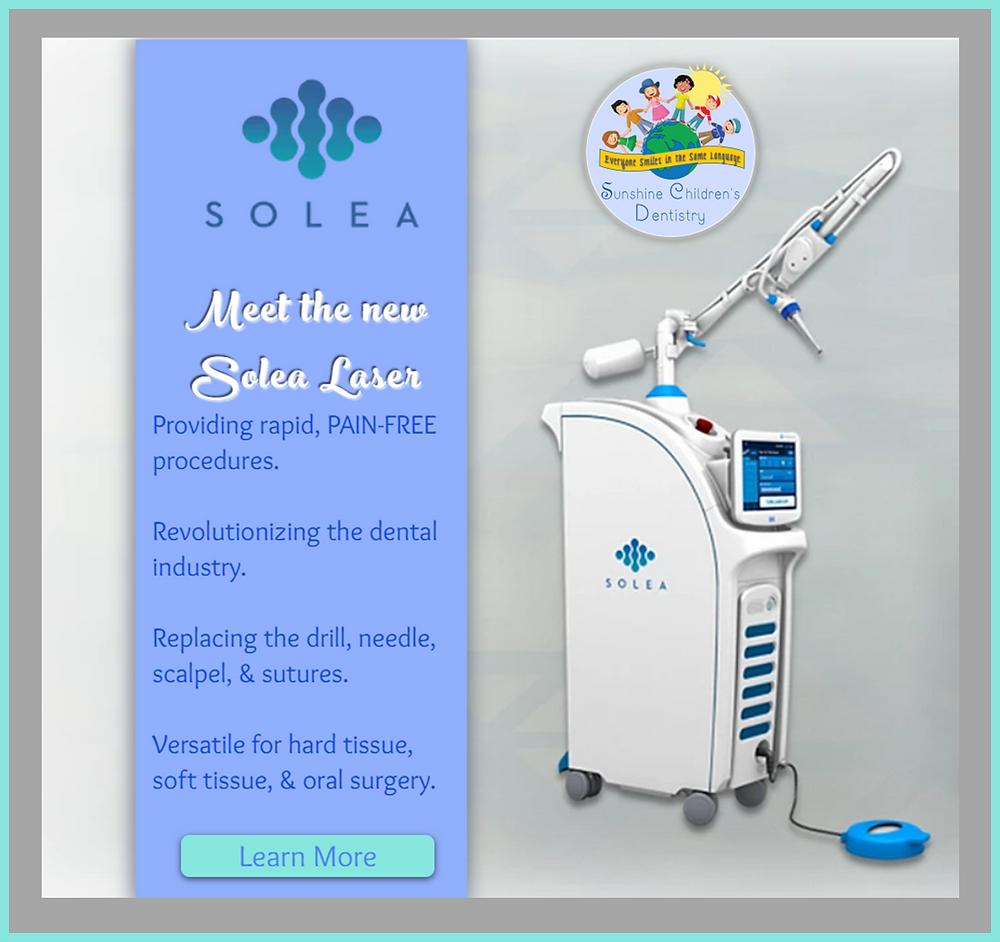 Solea Dental Laser providing pain-free procedures