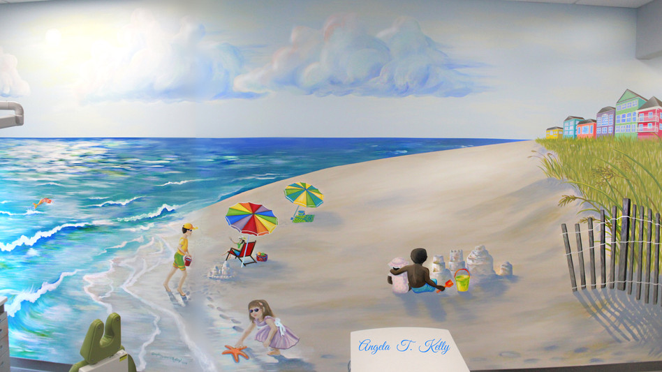 Our New Mural is like a Trip to the Beach!