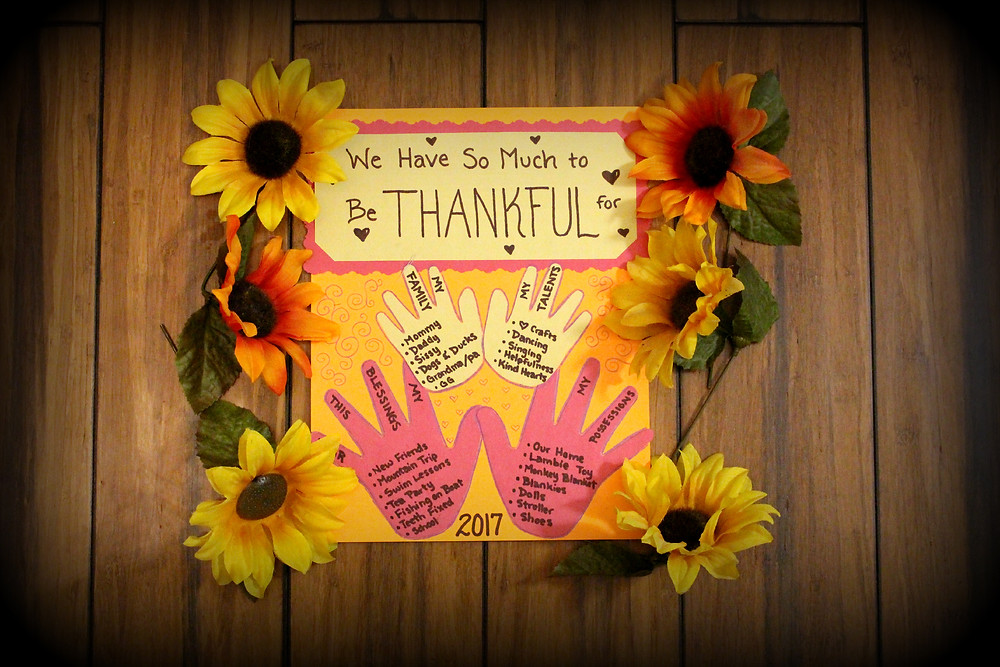 Children's Thankful Hands - Thanksgiving Activity by Sunshine Children's Dentistry