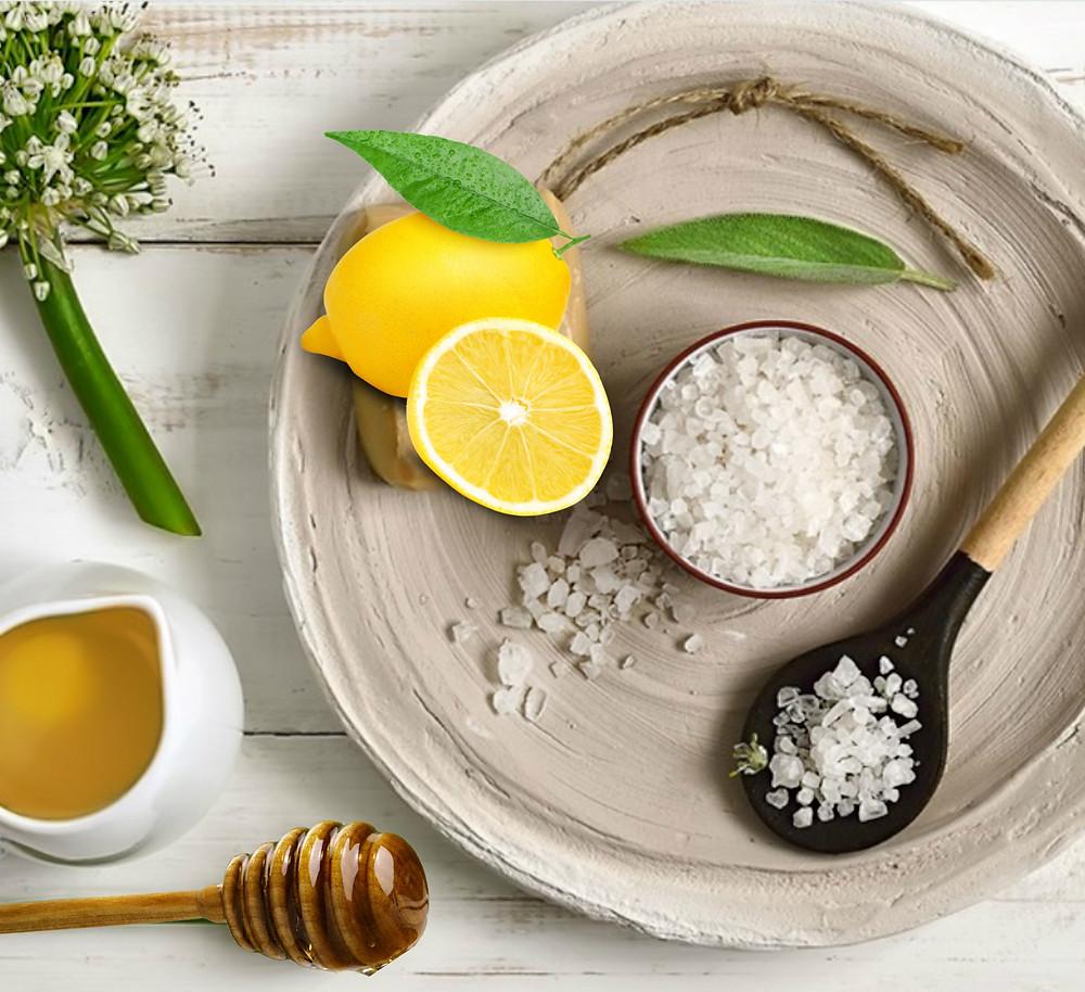 Spa DIY Lemon Honey Lip Scrub