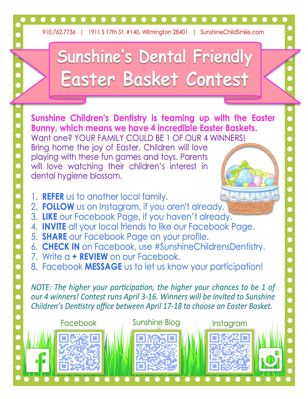 Sunshine's Easter Basket information