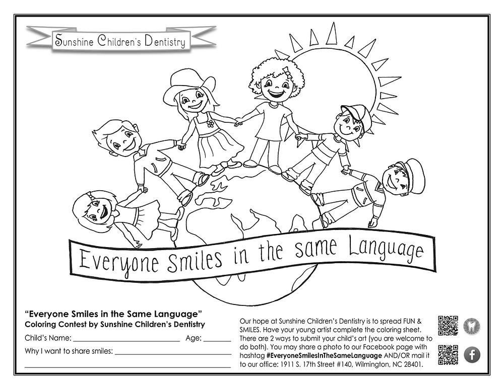 Sunshine Color Sheet Printable