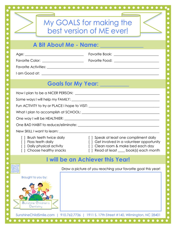 🌞FREE Goals Printable for Kids+ Professional Spotlight on Dr. Douglas Fry, DDS