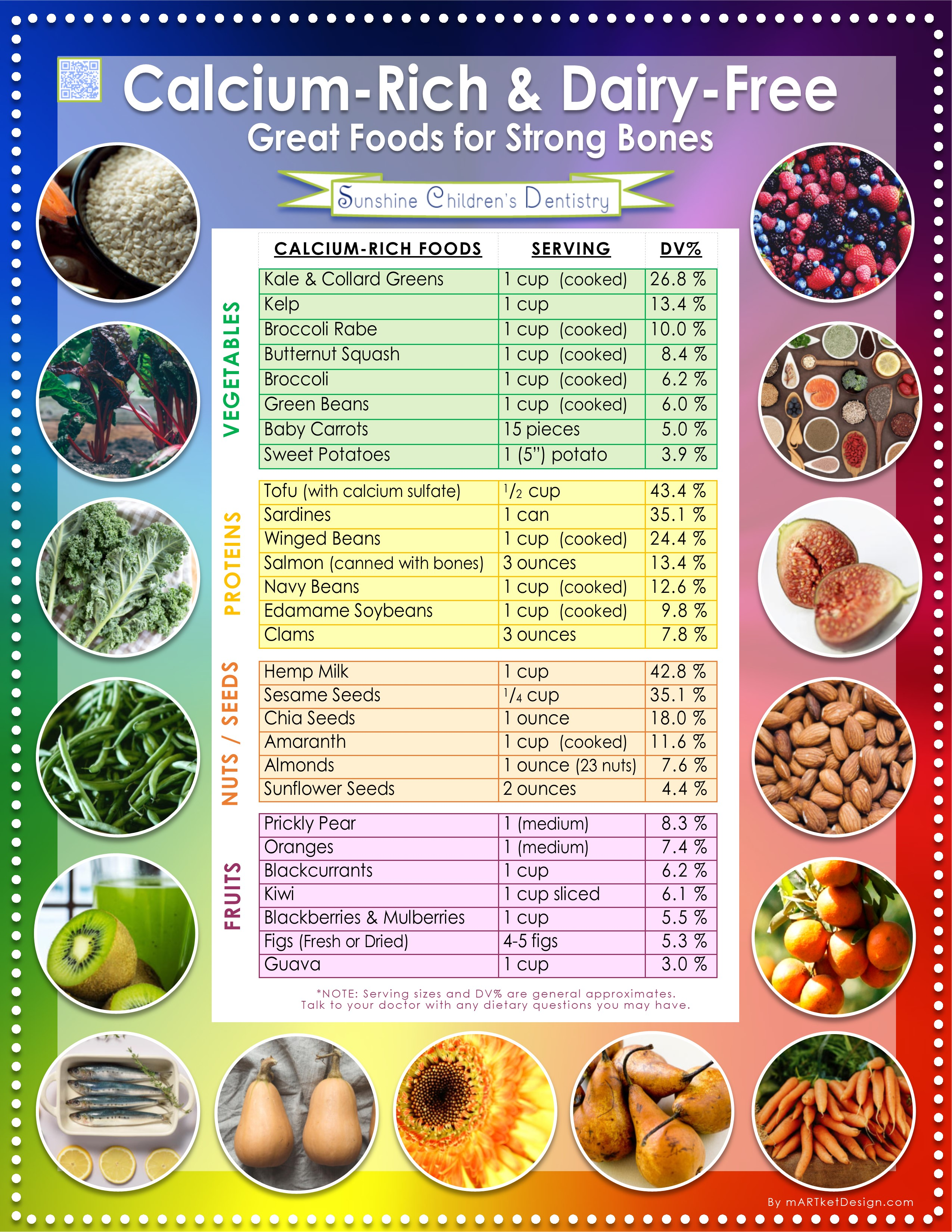 Calcium Rich Dairy Free Great Foods For Strong Bones