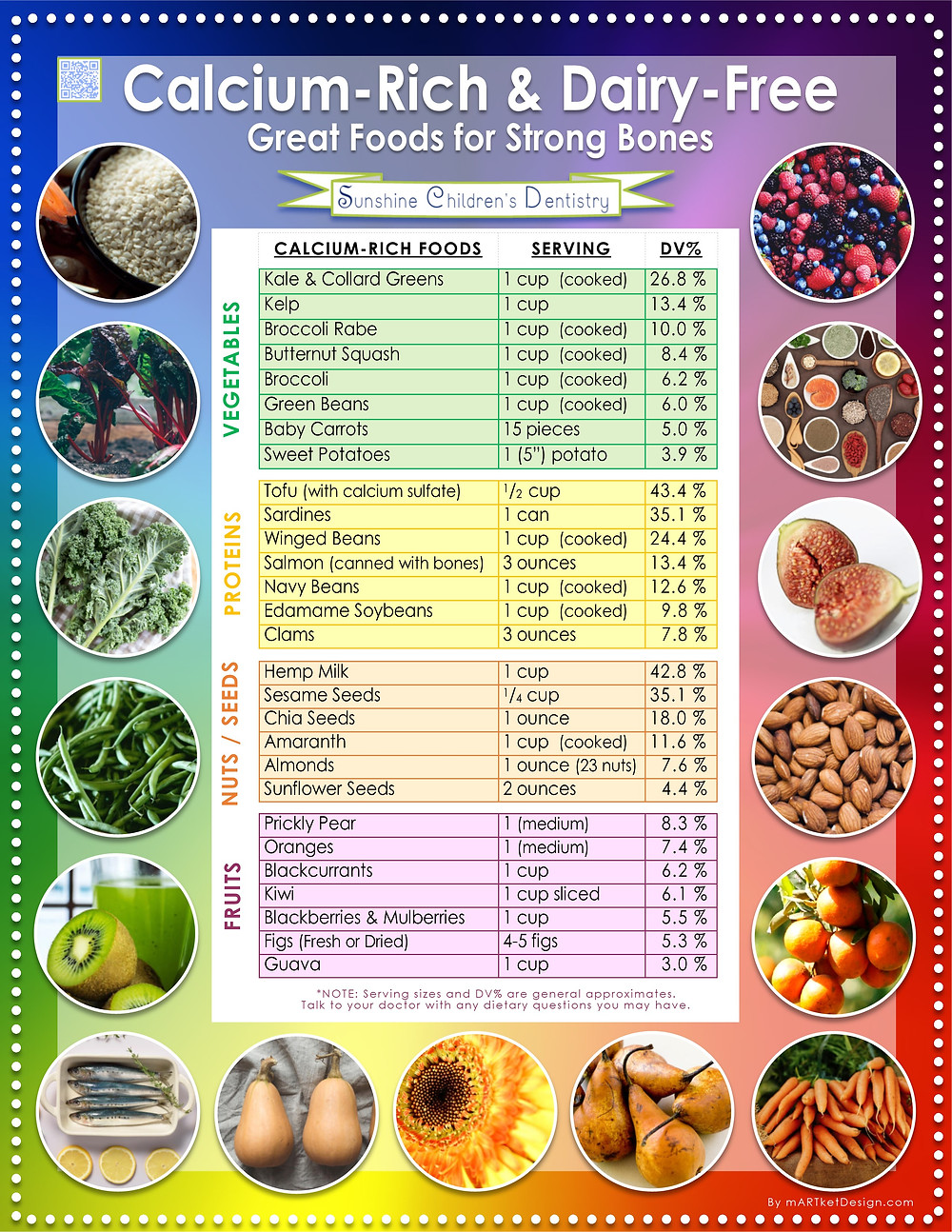 Calcium Rich & Dairy Free - Great Foods for Strong Bones