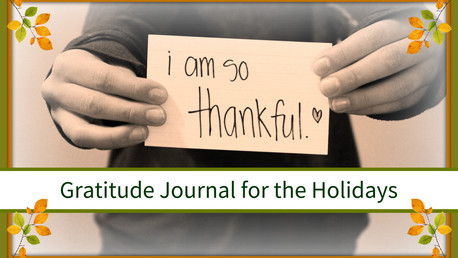 Gratitude Journal for the Holidays