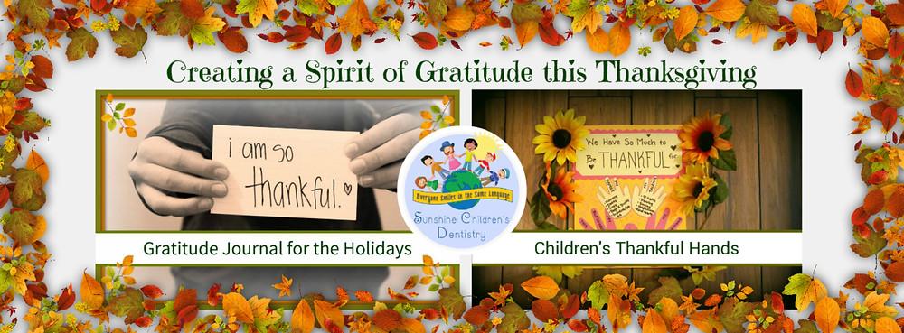 Creating a Spirit of Gratitude this Thanksgiving - Banner