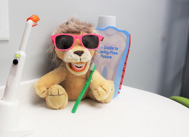 Tooth Brushing Lion Plush
