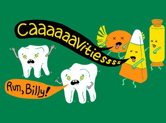 Zombie Halloween Cavities after Teeth
