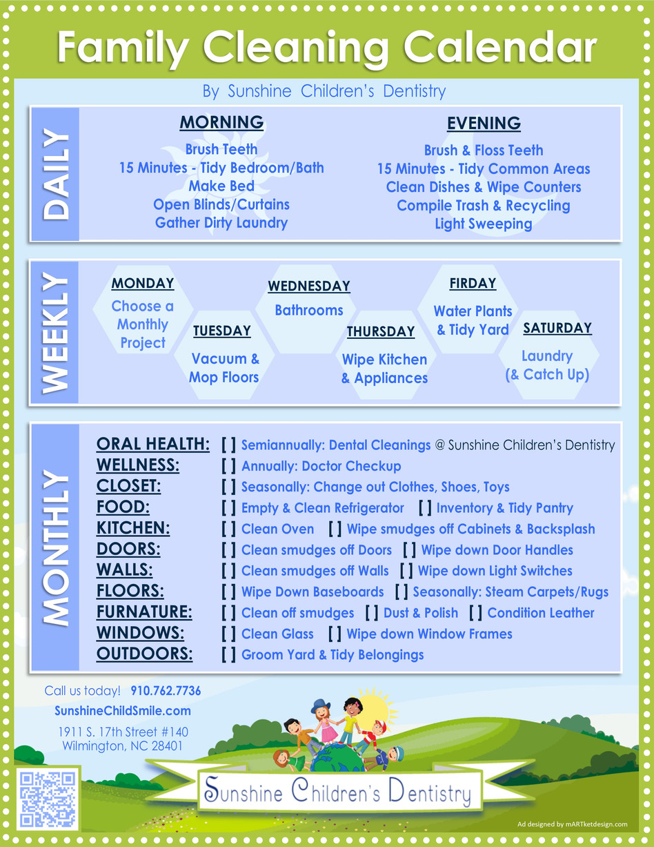 Your Family's EASY Cleaning Calendar