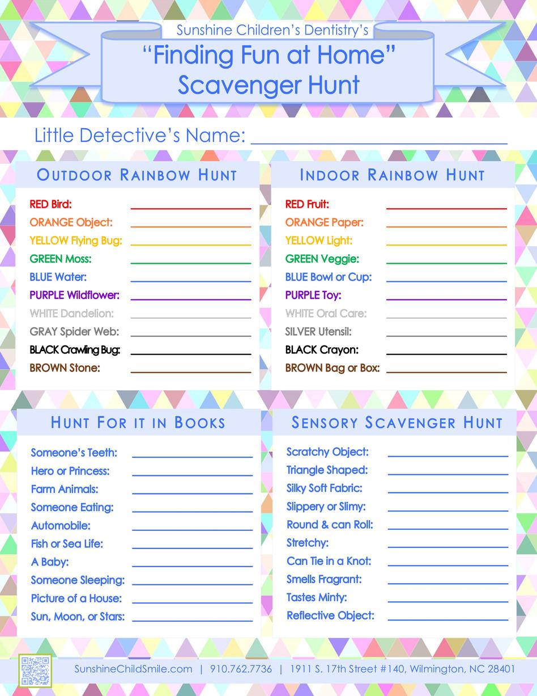 🌞 FREE Scavenger Hunt Printable + DIY Dental Friendly Easter Basket Ideas + Covid-19 Update