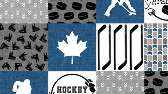 Hockey Grandpa   Classic Blue