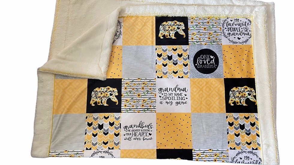 Pre-Order - Grandma Bear - Sunflower Yellow