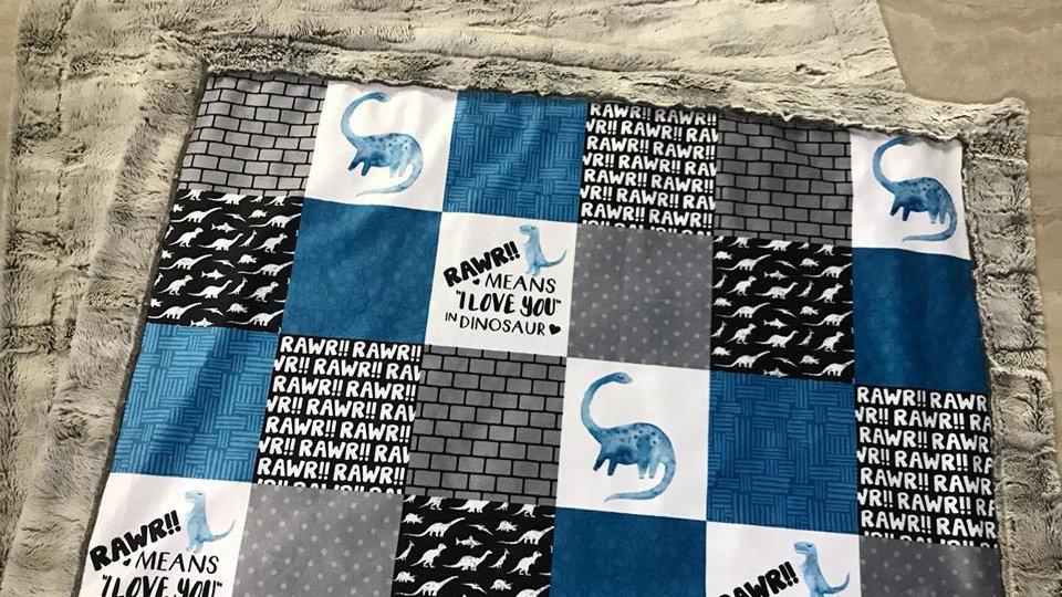 Pre-Order ~ Dinosaur | Rawr Means I Love You | Blue