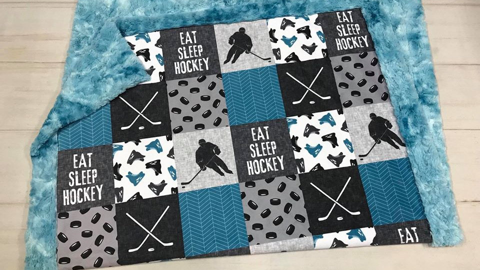 Eat Sleep Hockey | Blue Grey