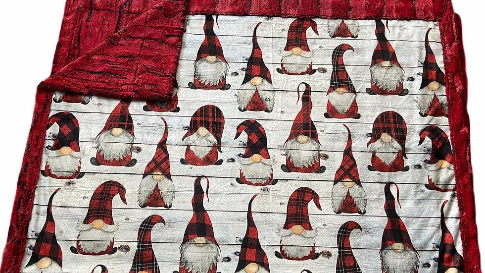 Pre-Order ~ Gnomes   Red Buffalo Plaid on Shiplap