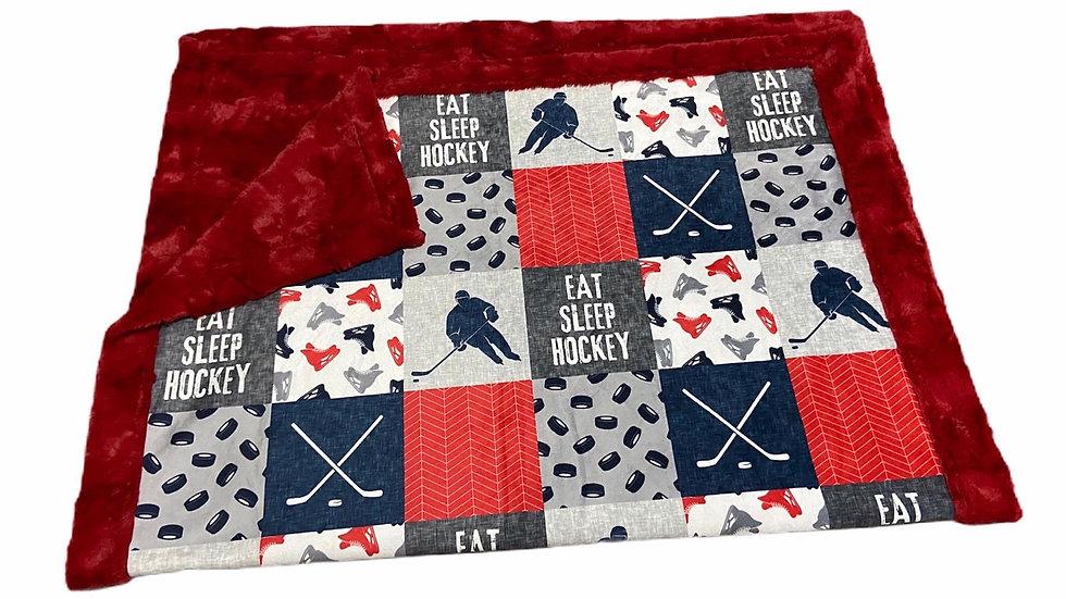 Eat Sleep Hockey | Red Navy