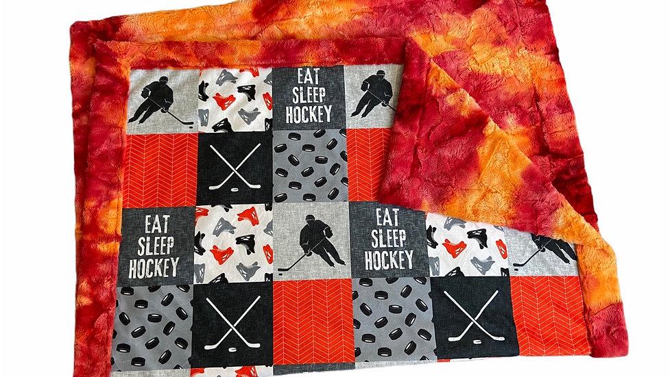 Eat Sleep Hockey | Orange Grey