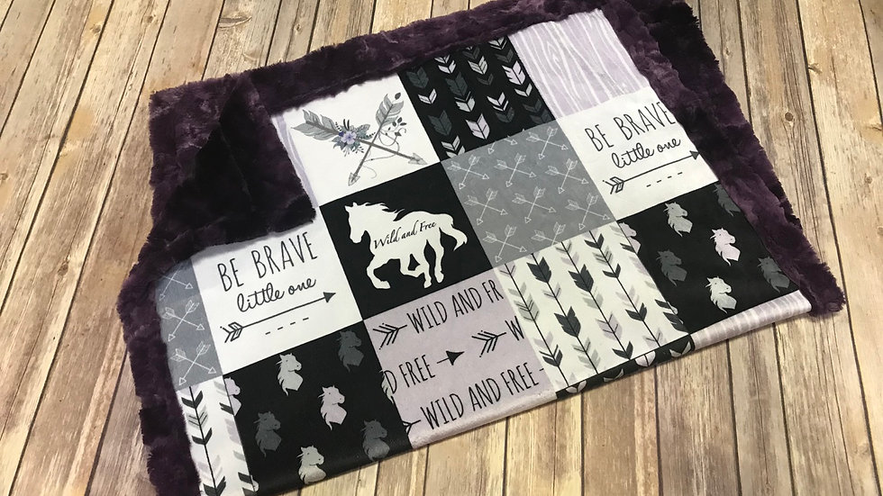 Pre-Order ~ Wild and Free Horses | Lilac Black