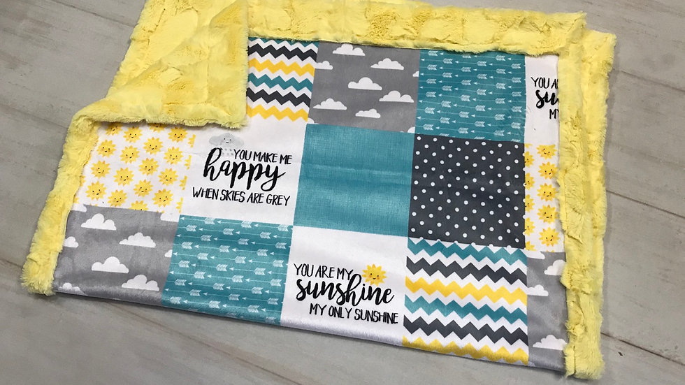 Pre-Order ~ You Are My Sunshine | Teal Yellow